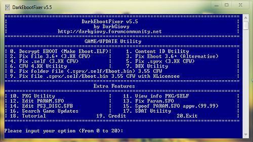 PS3 DarkEBOOT Fixer v5 5 Released - MateoGodlike