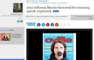 Muzzle Awards Charlottesville Thomas Jefferson Rick Sincere free speech