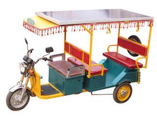 Charging e rickshaw