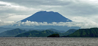 Mount Agung in eastern Bali