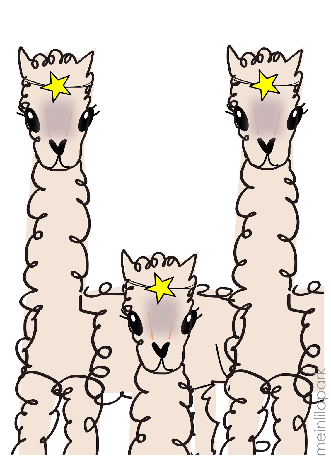 picture about Llama Printable referred to as Absolutely free printable alpaca wall artwork - Alpakaposter MeinLilaPark