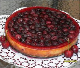 Tarta de queso y cerezas thermomix