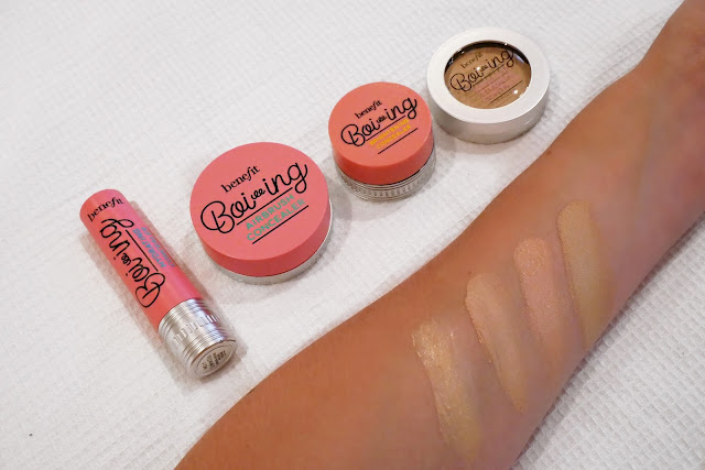 benefit boo-ing concealer swatches