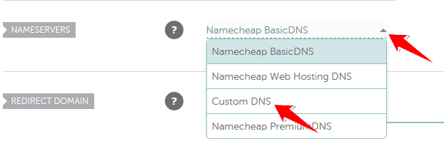 Select Custom DNS