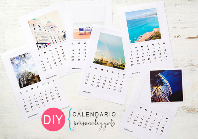 tutorial calendario 2017 foto instagram