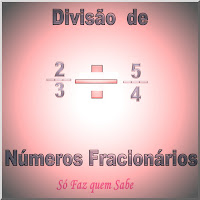 Ilustração alusiva à Divisão de números fracionários. Achando o quociente de frações.