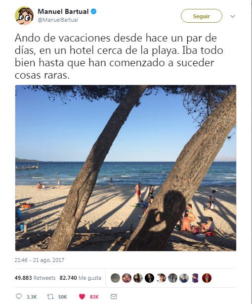 Comienzo del tweettelling de Manuel Bartual