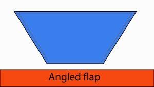 Angled flap