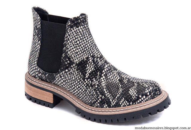Botas animal print pitón invierno 2016 Traza Calzados. Moda invierno 2016 botas.