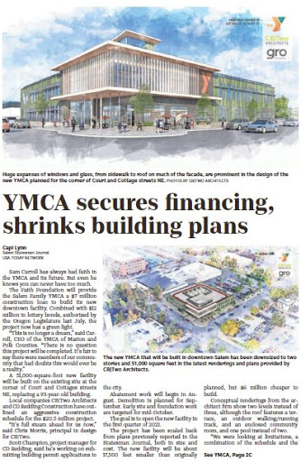 Latest YMCA Plans Shows we are Failing with Chemeketa Street Downtown