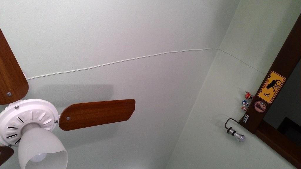 quarto fio ventilador teto