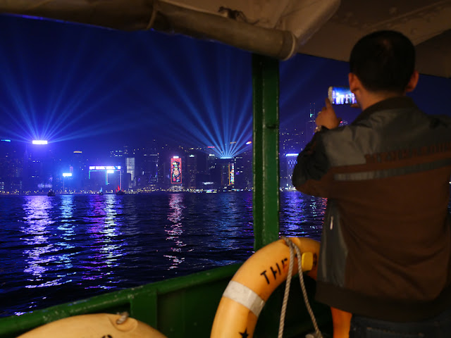 Photographing the Symphony of Lights from a Star Ferry boat