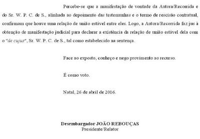 Justiça do RN decide que status no Facebook comprova união estável