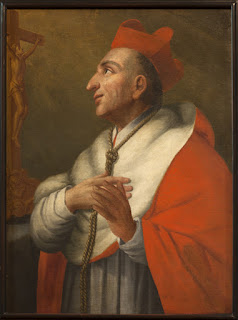 This painting of Charles Borromeo is in the St. Hermes Church in Ronse, Belgium
