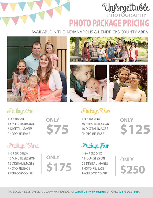 Unforgettable Photography: Package Pricing
