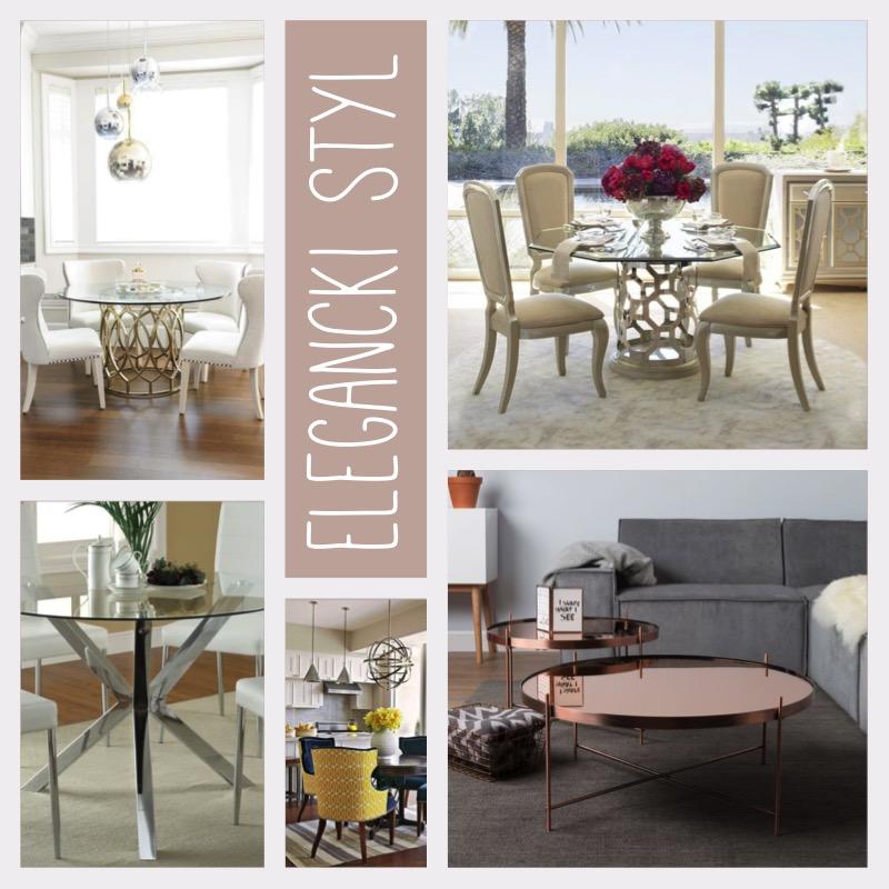 Okrągły stół elegancki styl