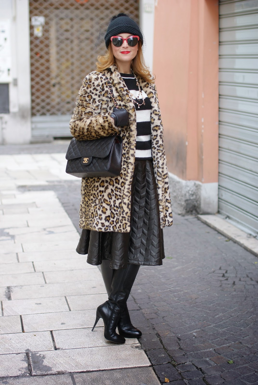 ef927741 Zara leopard print faux fur coat, veil beanie hat | Fashion and ...