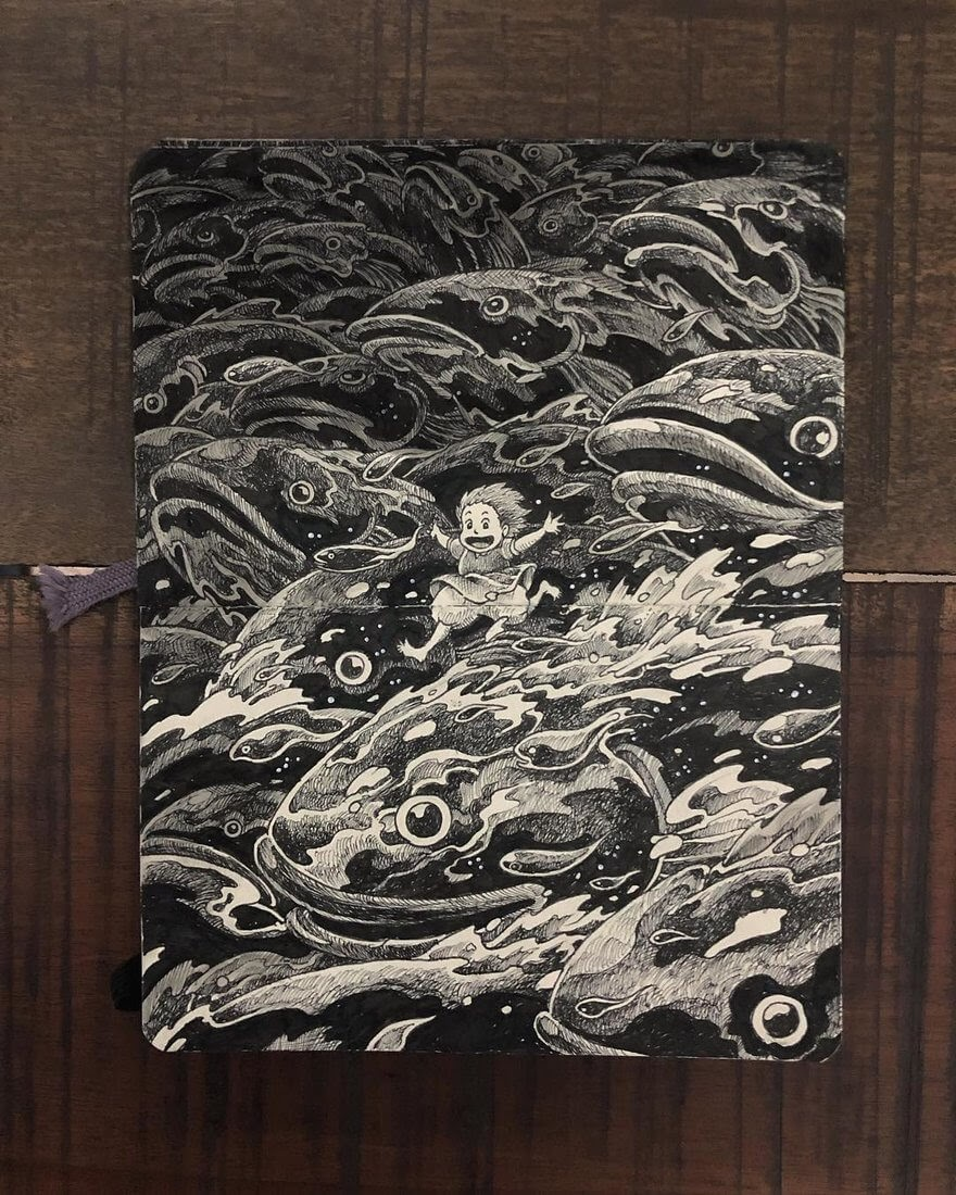 10-Ponyo-Kerby-Rosanes-Free-Hand-Detailing-and-Doodling-www-designstack-co