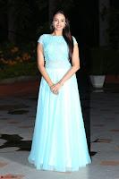 Pujita Ponnada in transparent sky blue dress at Darshakudu pre release ~  Exclusive Celebrities Galleries 118.JPG