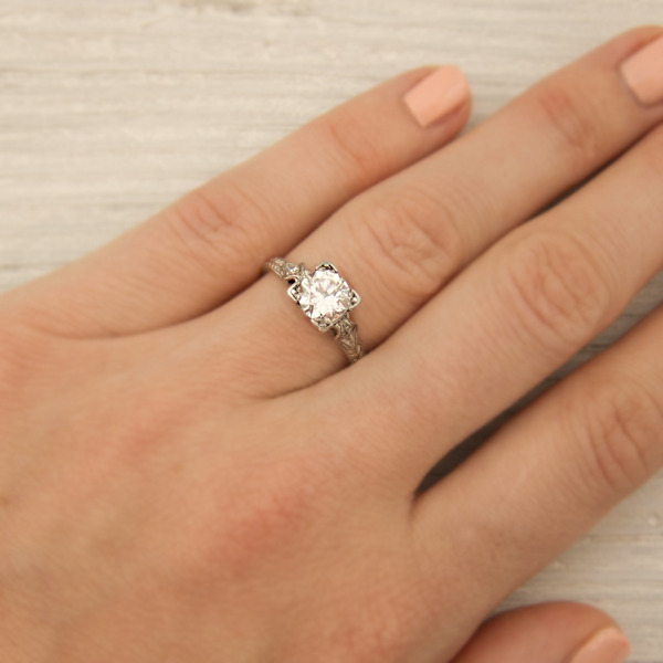 erstwhile jewelry vintage engagement ring 7929 - {Frosted Find}  Erstwhile Jewelry