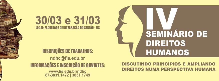 IV Seminário de Direitos Humanos-FIS