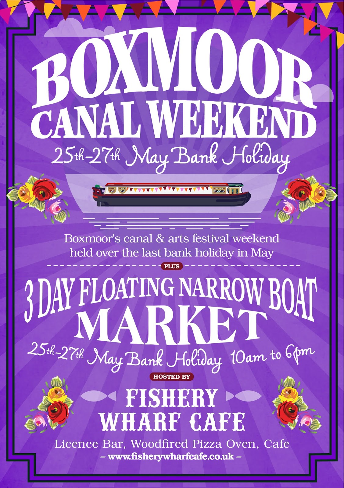 Art Wolfe Floating Market Fishery Wharf Cafe Boxmoor Canal Festival 25th 27th May 2019