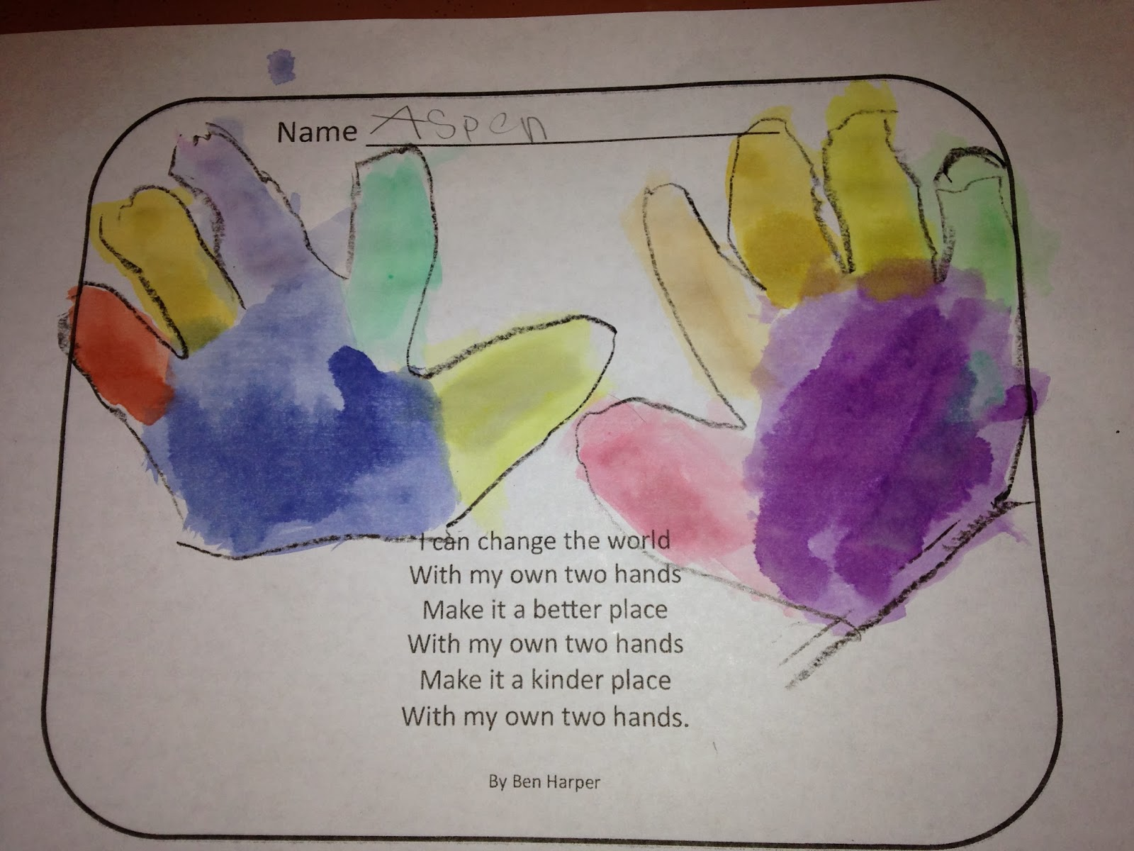 The Kindergarten Teacher With My Own Two Hands For Mlk Day