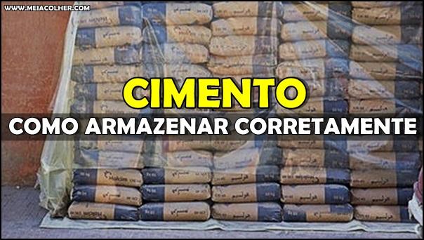 aprenda como armazenar sacos de cimento