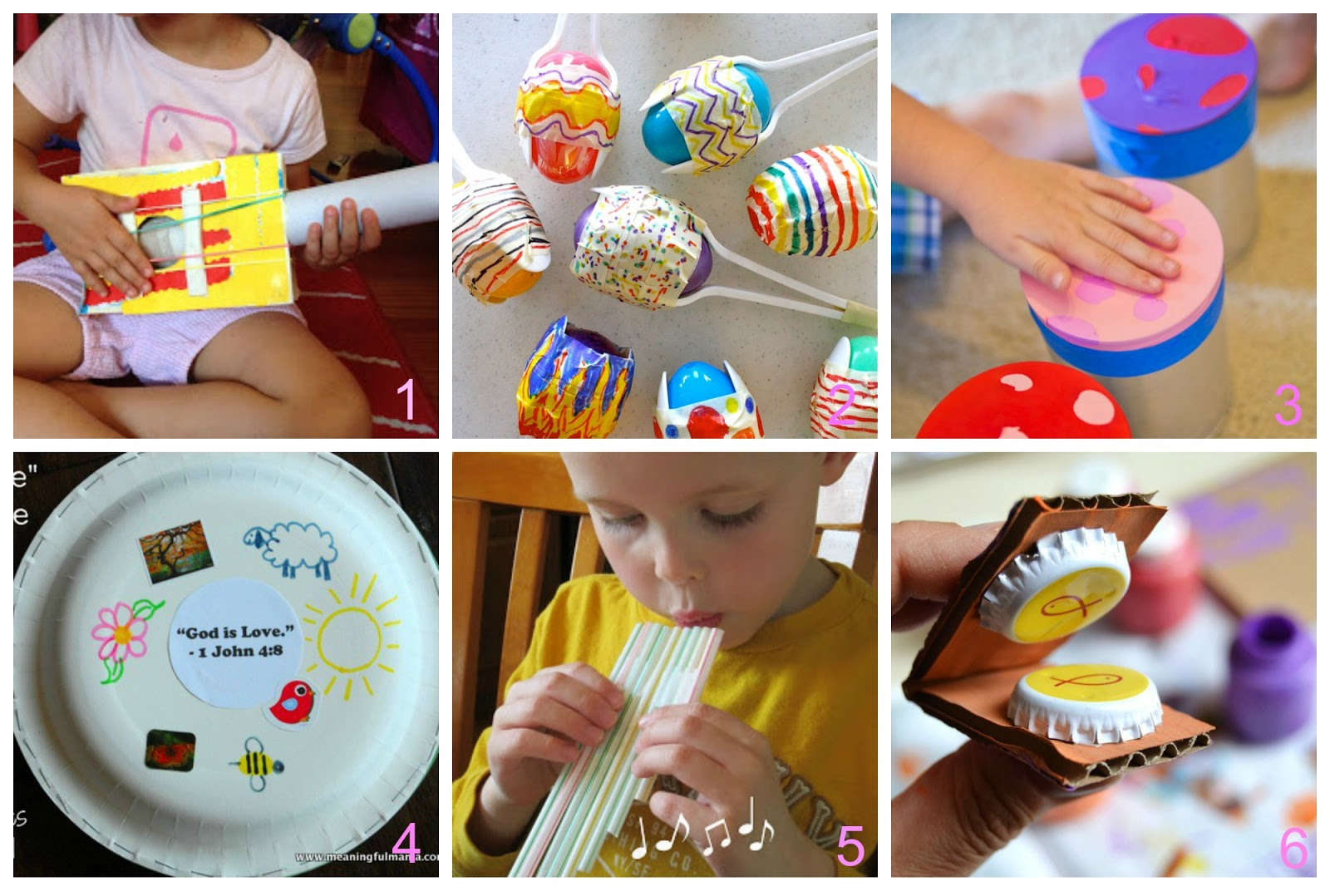 Strumenti musicali per bambini fai da te con materiali che abbiamo in casa donneinpink magazine - Casa plastica per bambini ...