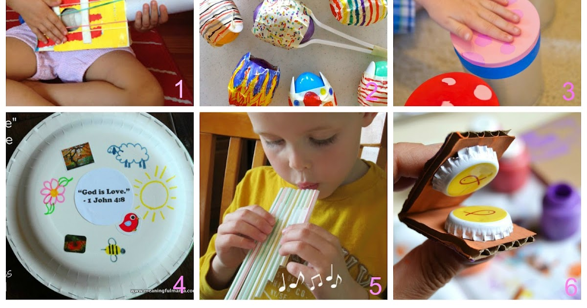 Strumenti musicali per bambini fai da te con materiali che for Materiali da costruzione che iniziano con i