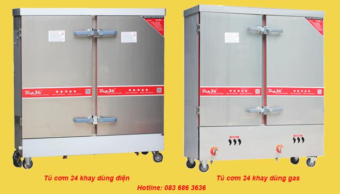 Tủ nấu cơm công nghiệp 24 khay chạy điện - chất lượng giá tốt