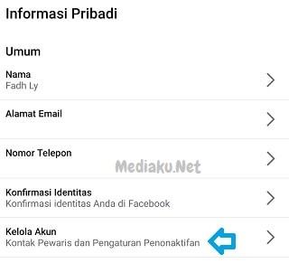 Menonaktifkan Akun Facebook Lewat HP
