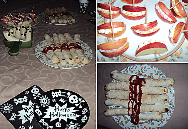 Halloween-feest eng eten