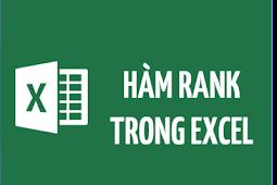 Cách xếp hạng trên Excel bằng hàm RANK