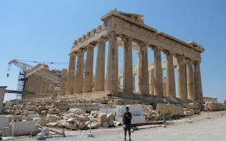 Partenón de la Acrópolis de Atenas.