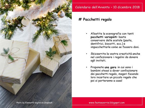 Calendario dell'Avvento - Consigli sui pacchetti regalo a una festa di compleanno a dicembre
