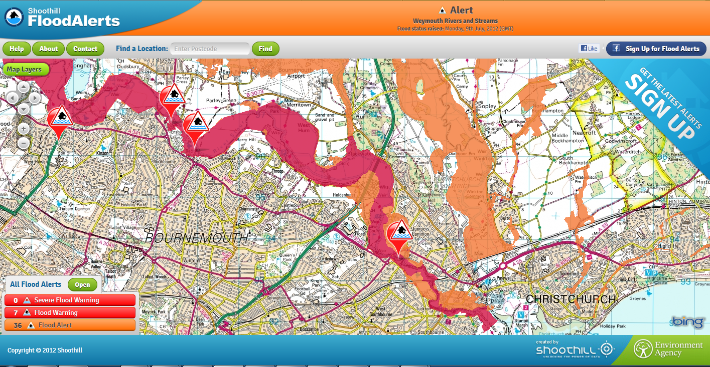 Flood Warning Map Mapping News by Mapperz