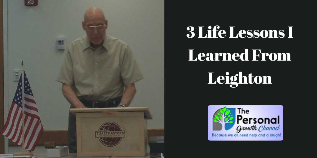 Picture of Leighton at Toastmasters