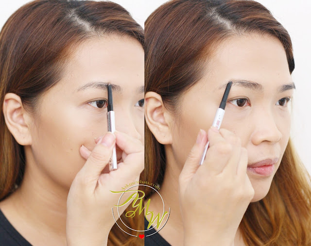 a photo of how to use Benefit Goof Proof Proof Brow Pencil