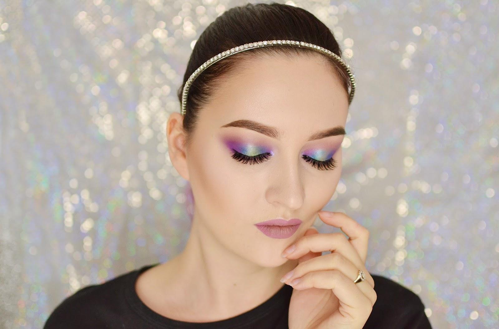 kolorowe wiosenne smokey eye tutorial makijaż