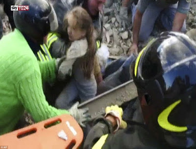 , Italy Earthquake: Ten Years Old Girl Pull Out Alive After 17 Hours (Photos/Video), Latest Nigeria News, Daily Devotionals & Celebrity Gossips - Chidispalace