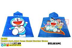 Handuk Anak Jubah Ponco Mantel Karakter Kartun