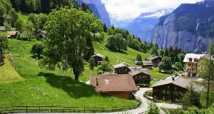 Wengen - vilarejo nos Alpes Bernesse Oberland, Suíça