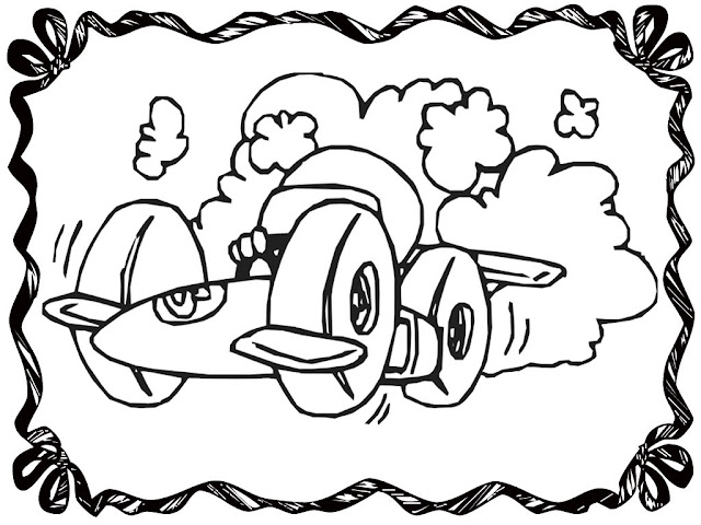 Cartoon Race Car Coloring Pages