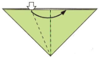 Bước 5: Mở và kéo lớp giấy từ bên trái sang phải để tạo bẹp