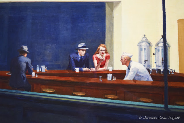 Hopper en el Art Institute de Chicago, por El Guisante Verde Project