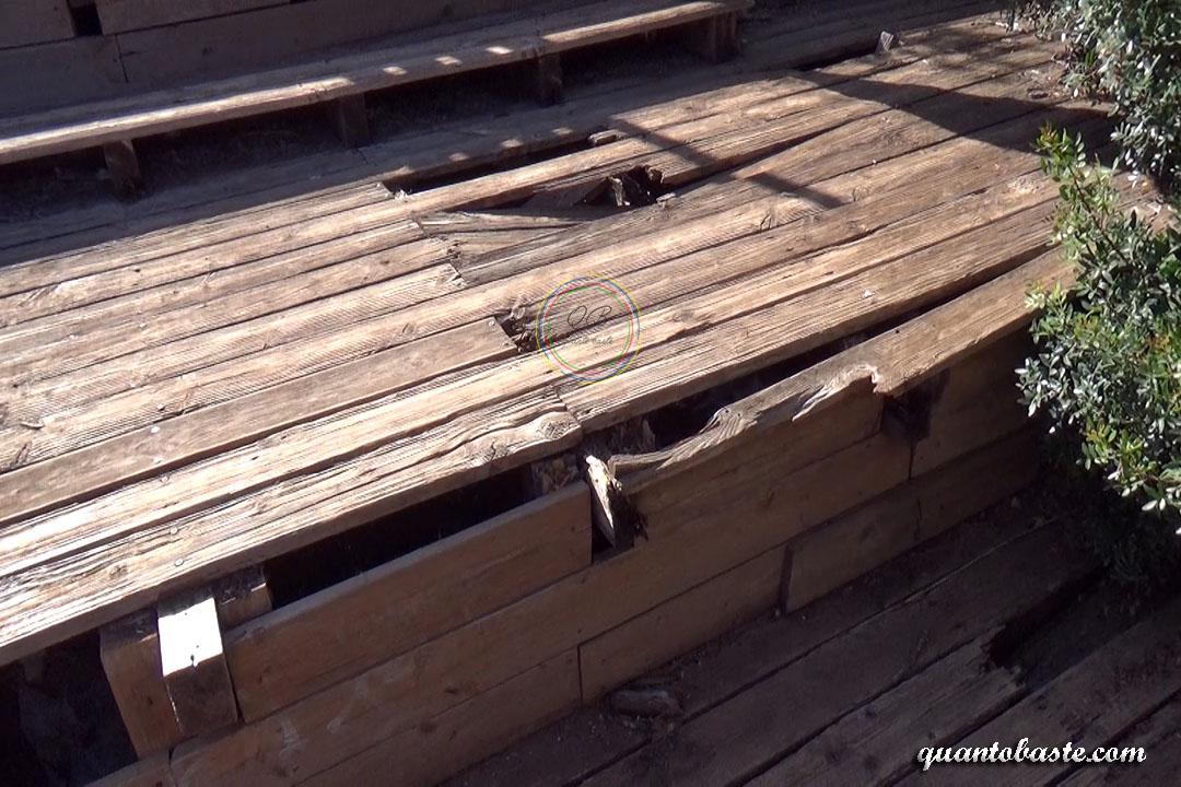 Pego do Inferno 2017 Caminho, estruturas danificadas
