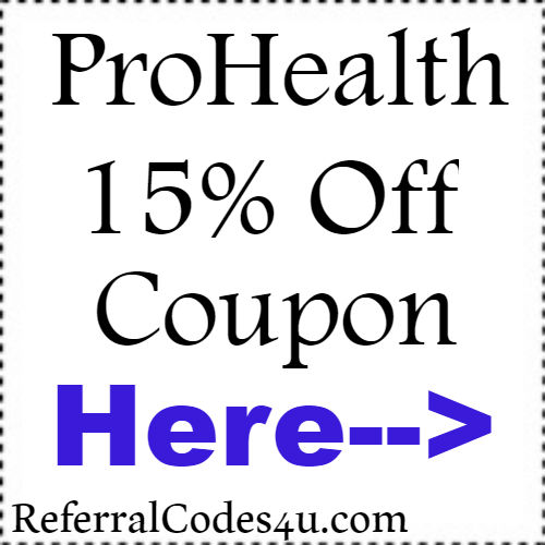 15% off ProHealth Discount Coupon Codes 2018-2019 Jan, Feb, March, April, May, June, July, Aug, Sep, Oct, Nov, Dec
