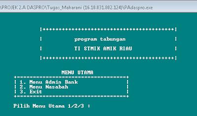 Membuat Program Menu Admin Bank C++