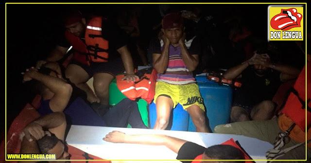 35 venezolanos en un lancha intentaron llegar a Curazao y fueron interceptados